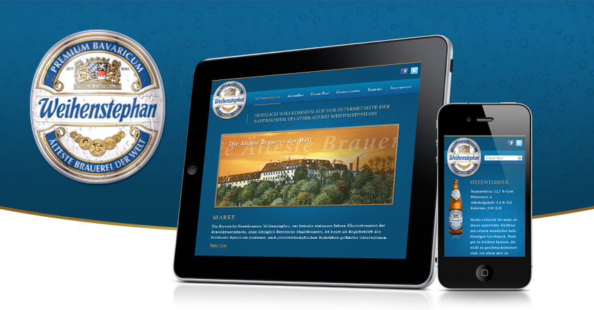 Official Weihenstephan website - now available in a mobile version.